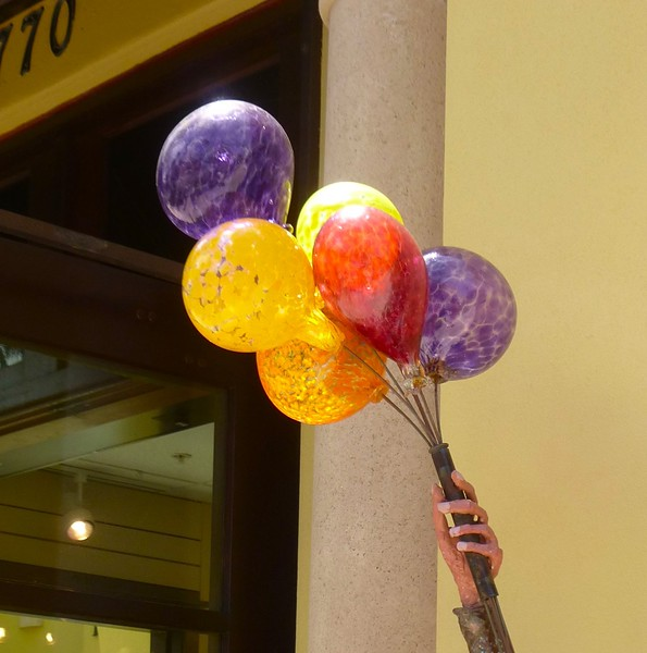 Those are blown glass balloons..