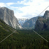 The Tunnel View at Yosemite National Park in California.