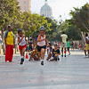 Boys and Girls are racing on the Paseo de Martí, the background is El Capitolio Capital
