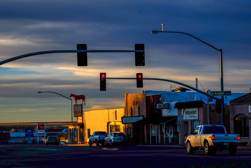 6  Evening traffic, Springerville, Arizona
