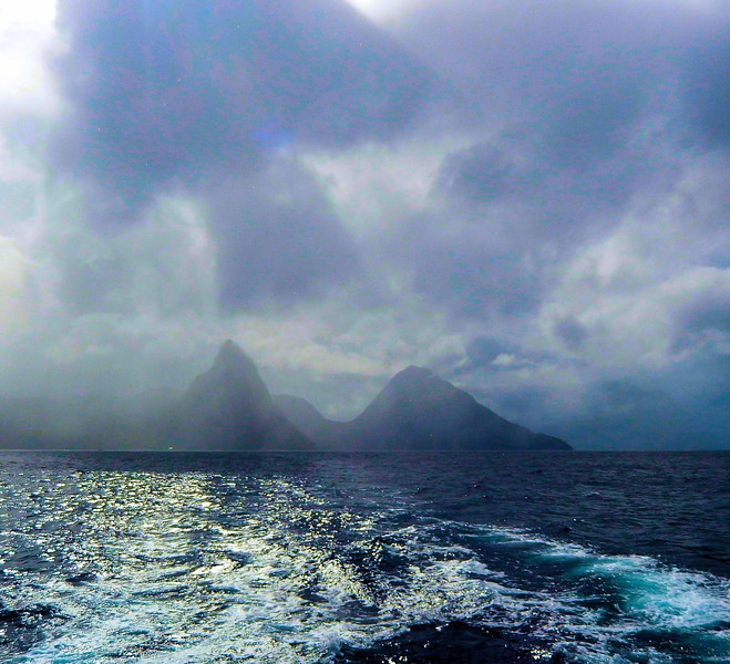 Heavy Weather Over the Pitons