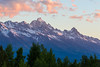 Zoom in for a little alpenglow on the Grand Teton...