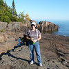 Jeane - enjoying Artist's Point in Grand Marais