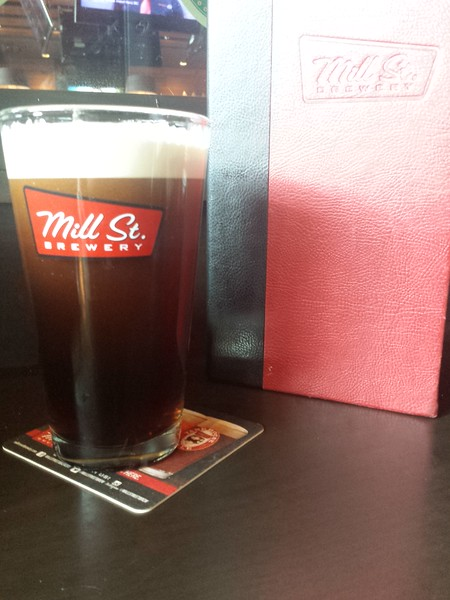 Had supper at the Mill St Brewery in Toronto Pearson International Airport