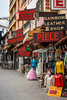 Shops and stores in the port city of Kusadasi, Turkey, Eurasia.