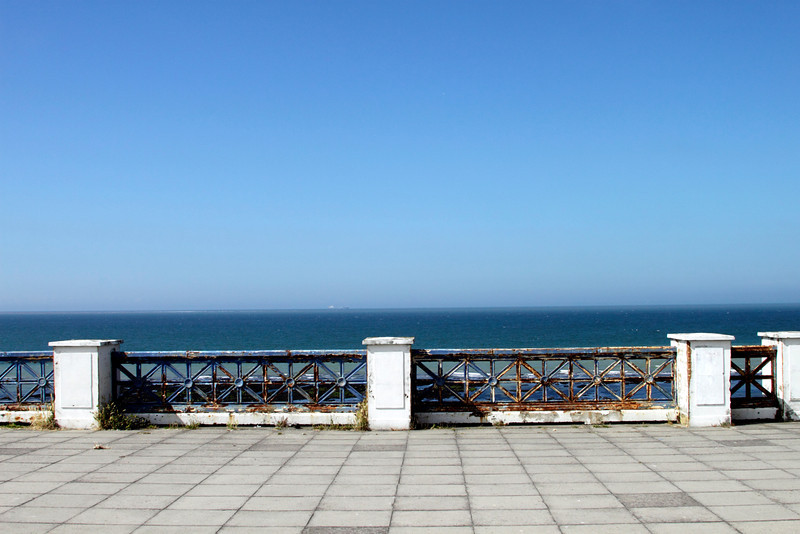 Sea view near the Winter Gardens above Fort Lower Promenade Margate Kent