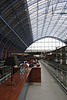 Cafe at St Pancras International Railway Station London