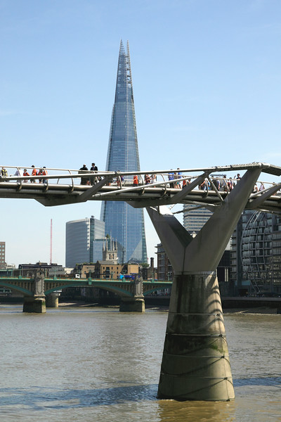 Millennium Bridge and The Shard London