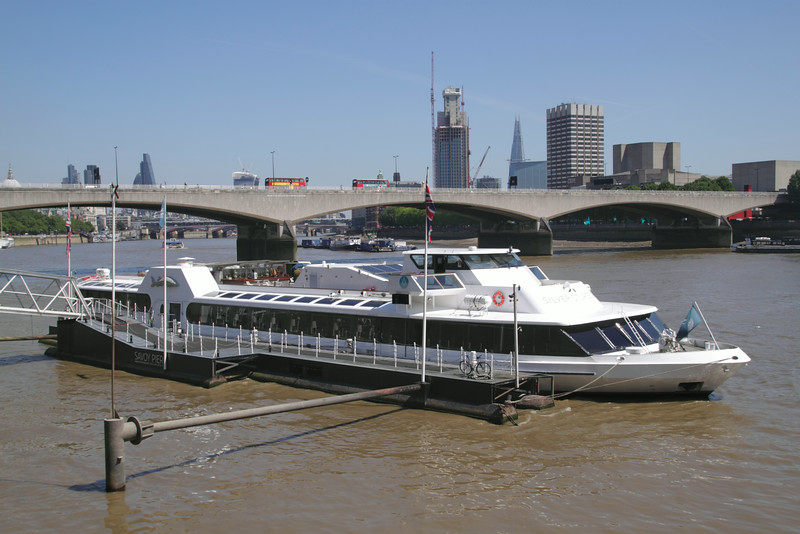 Silver Sturgeon restaurant cruiser Victoria Embankment London