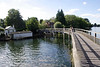 Wooden footbridge Henley Oxfordshire