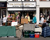 Silverware stall at Lymington High Street Hampshire