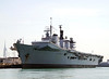 HMS Illustrious Royal Navy Aircraft Carrier Portsmouth