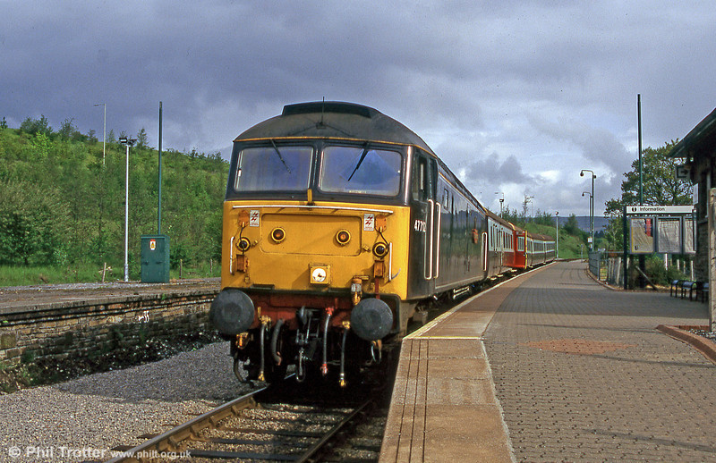 Waterman Railways 47712 'Dick Whittington' waits to leave Rhymney with the 0900 Rhymney to Barry Island on 2nd June 1996.
