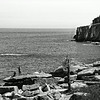 Acadia National Park, Rocky Shoreline, BW