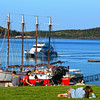 Bar Harbor Maine, Village Green, Families & Boats