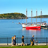 Bar Harbor Maine, Walking Along Shore Path