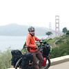 Leaving San Francisco across the Golden Gate Bridge