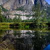 Reflections along Meced River. Yosemite valley, Yosemite National Park, California, USA.