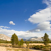 Panoramic view of Tuolumne Meadows, Lembert Dome Tuolumne Meadows, Yosemite National Park, California, USA.