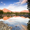 Sunset at Tuolumne Meadows, Lembert Dome. Tuolumne Meadows, Yosemite National Park, California, USA.