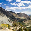 Panoramic view from Tioga Pass towards Mono Lake. Tioga Pass, Yosemite National Park, California, USA.