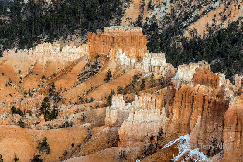 """Castle<br /> <br /> Rock castle and snow, Inspiration Point, Bryce Canyon, Utah<br /> <br /> A few more shots of Bryce Canyon can be seen here: <a href=""""http://goo.gl/X7nMvz"""">http://goo.gl/X7nMvz</a><br /> <br /> 13/09/14  <a href=""""http://www.allenfotowild.com"""">http://www.allenfotowild.com</a>"""