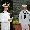 140726-N-MQ439-<br /> 26 July 2014(Hope,NJ) Master at Arms first class James Fisher is re-enlisted by Lt. Jeffrey Peterson.The re-enlistment ceremony, a time honored Navy tradition was held on the grounds of the First Hope Bank, Hope NJ.(US Navy photograph by Mass Communication Specialist first class Brian L. Anderson/RELEASED)