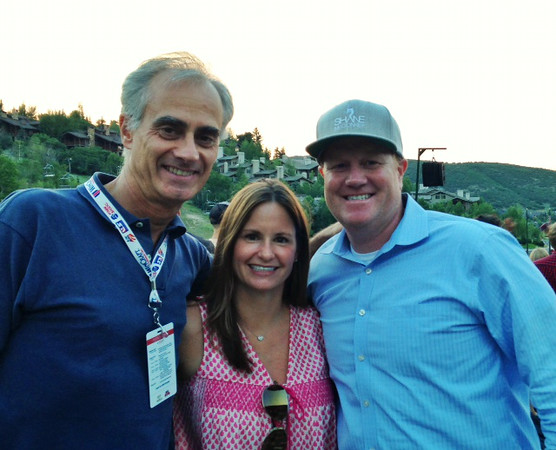 Tito Giovaninni from InFront with Aimee and Michael Jaquet<br /> 2014 USSA Partner Summit <br /> Dierks Bentley concert at Deer Valley, Park City<br /> Photo: USSA