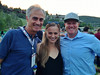 Tito Giovaninni from InFront, Casey Schlaybaugh from DDCP Partners/Chobani with Michael Jaquet<br /> 2014 USSA Partner Summit <br /> Dierks Bentley concert at Deer Valley, Park City<br /> Photo: USSA