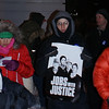 Single digit temperatures did not deter these Jobs With Justice supporters from calling for higher wages outside a Denver area McDonalds.