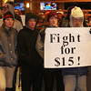 A $15 per hour wage was a demand of these protesters insdie a Denver area McDonalds.