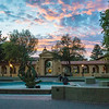 Sunset Over the Student Union, Stanford University