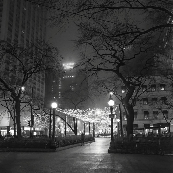 Water Tower Plaza (Night Fog)
