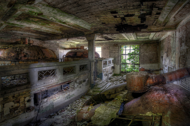 Forgotten Brewery - It's been a long time since this former brewery produced any beer. Mother nature is relentless and believe it or not this is the best preserved room in the building.