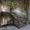 Forsaken Staircase - This villa has the most magnificent view i have ever seen. Why it was abandoned is unknown. The marble iin the wall decorations is still present but it is just a matter of time until the whole villa collapses.