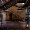 Section A - Men section inside an abandoned prison