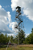 A fire tower in inland Maine.