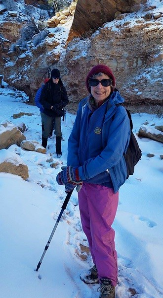 Our snowy New year's stay in Boulder.  On our Horse Canyon hike-from Lawson