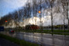 Toward The Hague; sunshine and rain