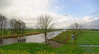 Toward The Hague; canal with lower farmland