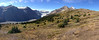 A panorama of the top of Parker Ridge and the Saskatchewan Glacier.