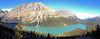 A Panorama of Peyto Lake.