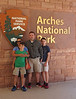June 10, 2014 - (Arches National Park [Visitor Center] / Moab, Grand County, Utah) -- Emily, Aaron, Michael & James