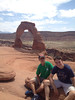 June 10, 2014 - (Arches National Park [above Delicate Arch] / Moab, Grand County, Utah) -- Aaron & James