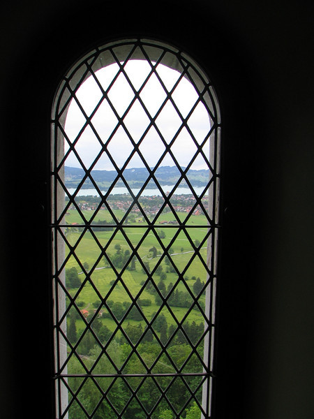 Looking out the window from Neuschwanstein Castle