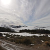View on Sierra Nevada (just above the cloud line) Spain February 21, 2014