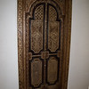 Bathroom door hand carved inlays