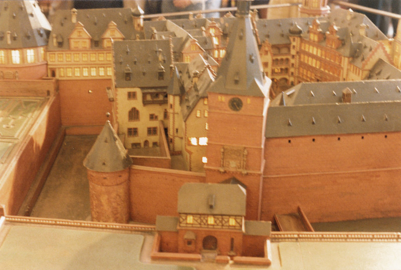 Model of Heidelberg Castle.