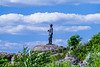 A statue of a union soldier looking out from Little Big Top.