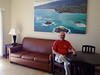 October 16, 2013 - (Bellows Air Force Station, Honolulu County, Waimanalo, Hawaii) -- David at Bellows AFS apartment